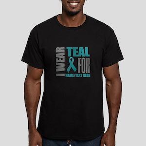 Teal Awareness Ribbon Men's Fitted T-Shirt (dark)