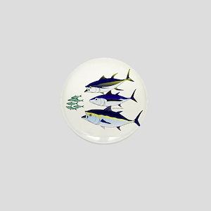 Three Tuna Chase Sardines fish Mini Button