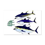 Three Tuna Chase Sardines fish Mini Poster Print