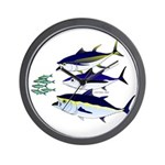 Three Tuna Chase Sardines fish Wall Clock