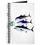 Three Tuna Chase Sardines fish Journal