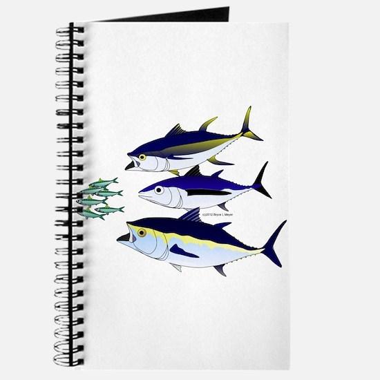 Three Tuna Chase Sardines fish Journal