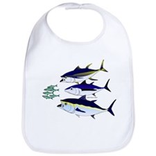 Three Tuna Chase Sardines fish Bib