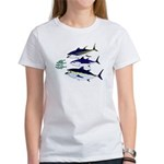 Three Tuna Chase Sardines fish Women's T-Shirt