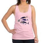 Three Tuna Chase Sardines fish Racerback Tank Top