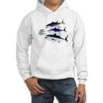 Three Tuna Chase Sardines fish Hooded Sweatshirt