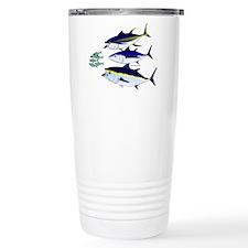 Three Tuna Chase Sardines fish Stainless Steel Tra