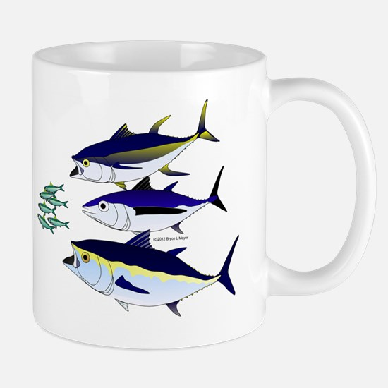 Three Tuna Chase Sardines fish Mug