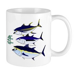 Three Tuna Chase Sardines fish Mug