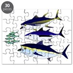 Three Tuna Chase Sardines fish Puzzle