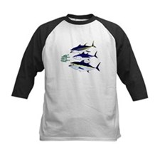 Three Tuna Chase Sardines fish Kids Baseball Jerse