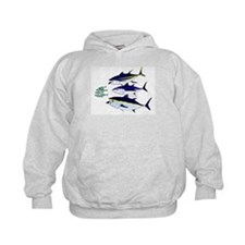 Three Tuna Chase Sardines fish Kids Hoodie