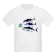 Three Tuna Chase Sardines fish Kids Light T-Shirt