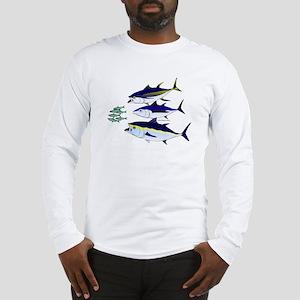 Three Tuna Chase Sardines fish Long Sleeve T-Shirt
