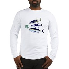 Three Tuna Chase Sardines fish Long Sleeve T-Shirt