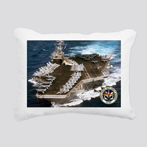 USS John F. Kennedy CV-67 Rectangular Canvas Pillo