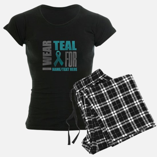 Teal Awareness Ribbon Custom Pajamas