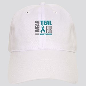 Teal Awareness Ribbon Customized Cap