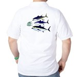 CF logo and 3 Tuna Attack Golf Shirt