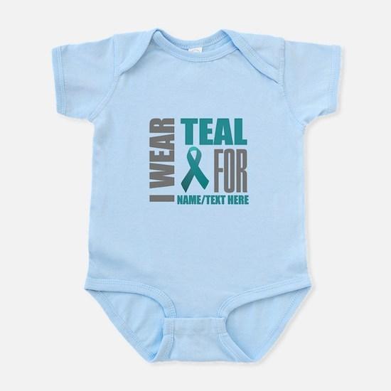 Teal Awareness Ribbon Customized Infant Bodysuit