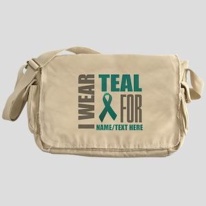 Teal Awareness Ribbon Customized Messenger Bag