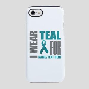 Teal Awareness Ribbon Customiz iPhone 7 Tough Case