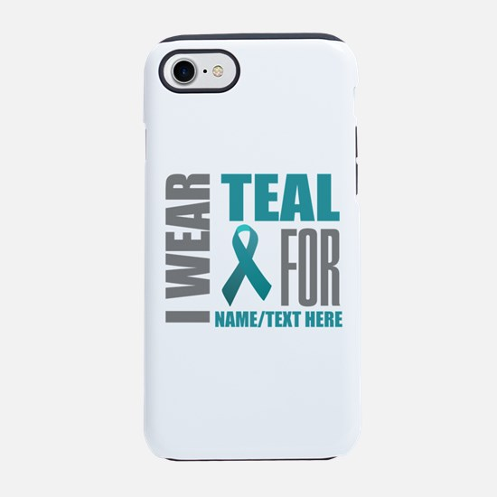 Teal Awareness Ribbon Customiz iPhone 7 Tough Case