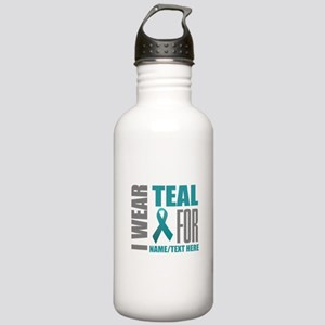 Teal Awareness Ribbon Stainless Water Bottle 1.0L