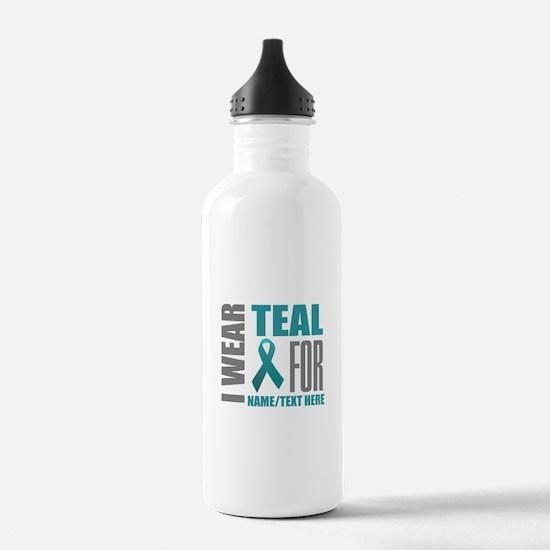 Teal Awareness Ribbon Water Bottle