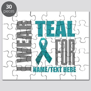 Teal Awareness Ribbon Customized Puzzle