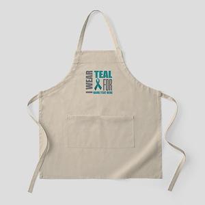Teal Awareness Ribbon Customized Light Apron