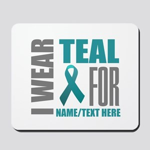 Teal Awareness Ribbon Customized Mousepad