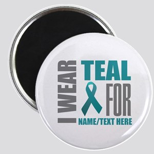 Teal Awareness Ribbon Customized Magnet