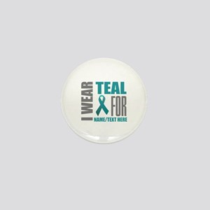 Teal Awareness Ribbon Customized Mini Button