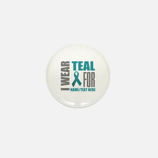 Teal Awareness Ribbon Customized Mini Button