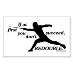 redouble Sticker (Rectangle 50 pk)
