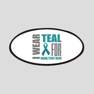 Teal Awareness Ribbon Customized Patch