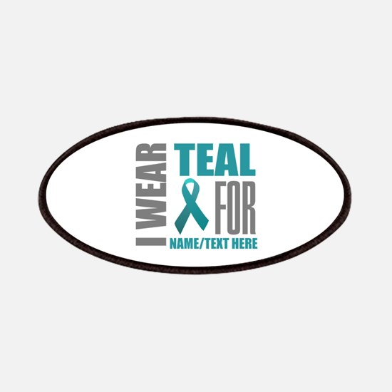 Teal Awareness Ribbon Customized Patch