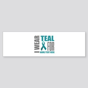 Teal Awareness Ribbon Customized Sticker (Bumper)