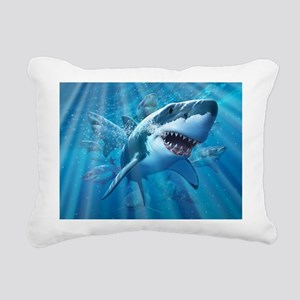 Great White 2 Rectangular Canvas Pillow
