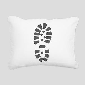 Hiking Boot Print Rectangular Canvas Pillow