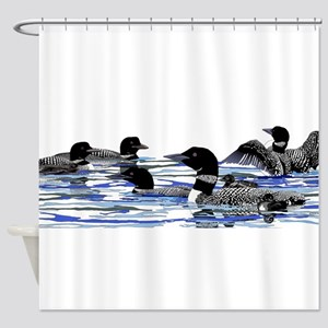 Lots Of Loons Shower Curtain