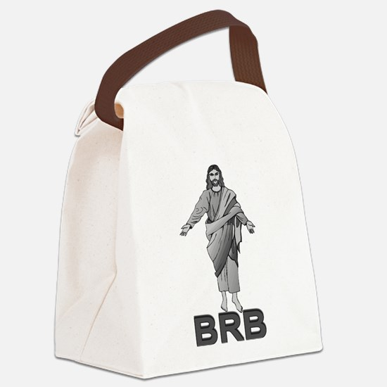 Jesus Will Be Right Back Canvas Lunch Bag