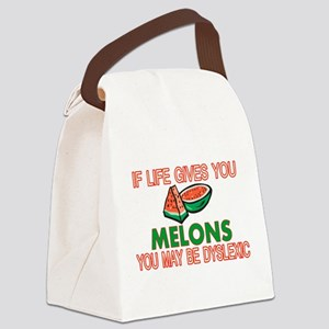 Dyslexic Melons Canvas Lunch Bag
