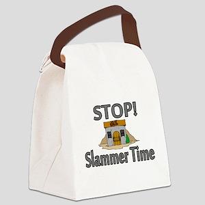 Stop Slammer Time Canvas Lunch Bag