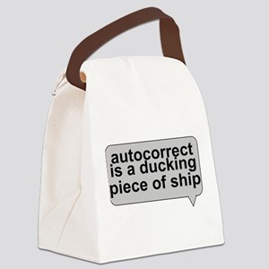 Stupid Autocorrect Canvas Lunch Bag