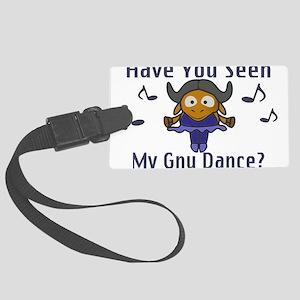 Gnu Dance Large Luggage Tag