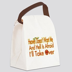 Heaven And Hell Canvas Lunch Bag