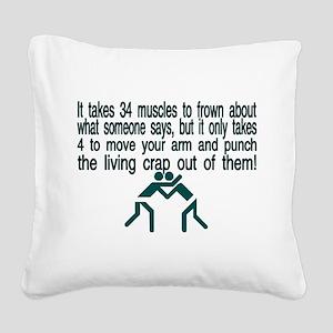 Living Crap Square Canvas Pillow