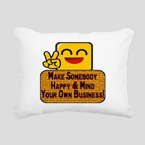 Mind Your Business Rectangular Canvas Pillow